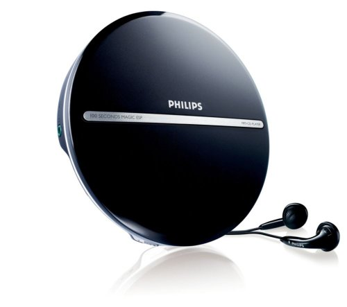Cd-player Schwarz (Philips EXP2546 tragbarer MP3-CD Player (100 Sekunden ESP, Dynamic Bass Boost) schwarz)