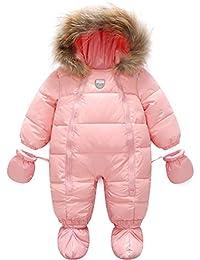 ARAUS Niños Abajo Abrigo de Algodón con Capucha para Mantener Caliente de Otoño e Invierno 3-24 Meses