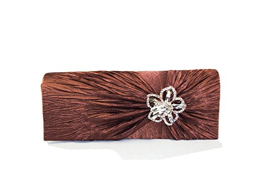 Evening Clutch XPGG-Borsa regalo, motivo: buon 018 spalla da donna Nero (marrone)