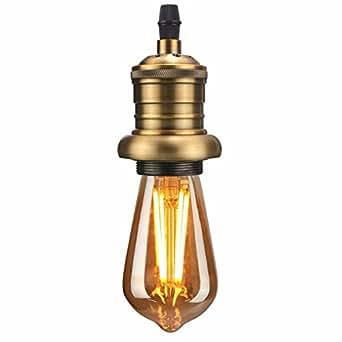 kingso e27 lampenfassung kupfer fassung vintage edison pendelleuchte h ngelampe halter ohne. Black Bedroom Furniture Sets. Home Design Ideas