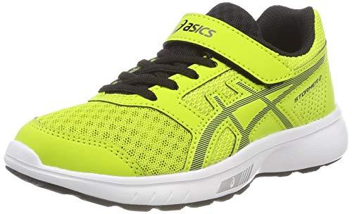 Asics Stormer 2 PS, Zapatillas de Entrenamiento Unisex Niños, Verde (Neon Lime/Black 300), 34.5 EU