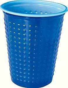 Duni Gobelets Plastique Colorix Uni Bleu, 20cl, Lot de 40