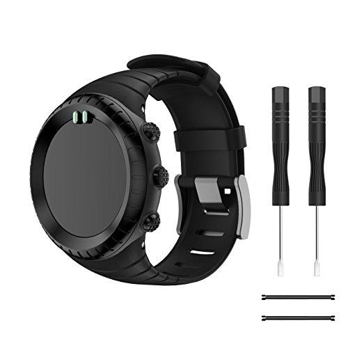 TOPsic Suunto Core Watch Armband - TPU Sportarmband Uhr Band Strap Erstatzband Uhrenarmband für Suunto Core Samrtwatch