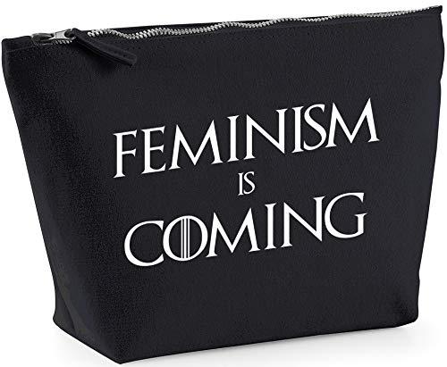 Hippowarehouse Feminism is Coming Bolsa de Lavado cosmética Maquillaje Impreso 18x19x9cm