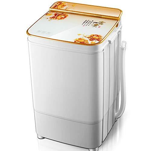 OCYE 13lbs Mini Lavatrice Portatile Gravity Drain Compact Twin Tub Washer Spinner, Ideale per dormitori, Appartamenti, campeggi, con Timer, cestini di disidratazione