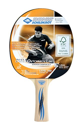 Donic-Schildkröt Tischtennis-Schläger DIMA OVTCHAROV 300 FSC, holz-natur, keine, 705232