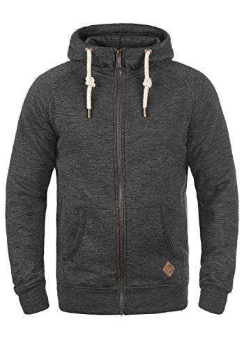 !Solid Vitu Herren Sweatjacke Kapuzenjacke Hoodie Mit Kapuze Und Reißverschluss Aus 100% Baumwolle, Größe:L, Farbe:Med Grey (8254) -