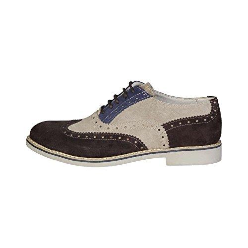 Made In Italia - FEDRO Brogue Chaussures De Ville À Lacets Homme 100% CUIR VÉRITABLE