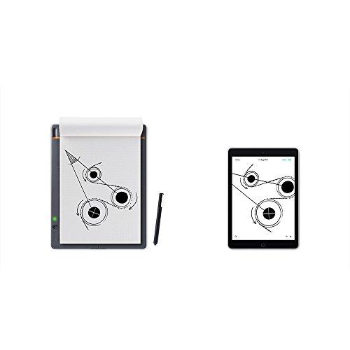 Wacom CDS-610S Bamboo Slate A5 Cuaderno digital para apuntes y dibujo / Cuaderno de notas inteligente / Compatible con dispositivos iOS, Android y Windows / Incluye bolígrafo / Color gris medio