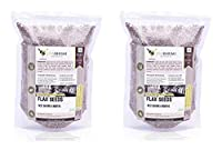 Jivabhumi Organic Flax Seeds, 500 Grams (Pack of 2)