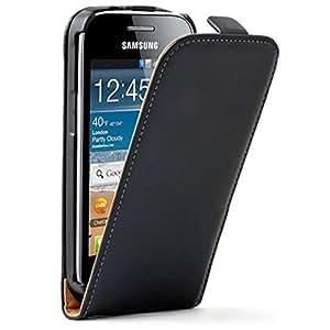 Etui Housse Coque à rabat Cuir pour Samsung Galaxy Trend Lite S7390 S7392 - Film de Protection Offert - Noir