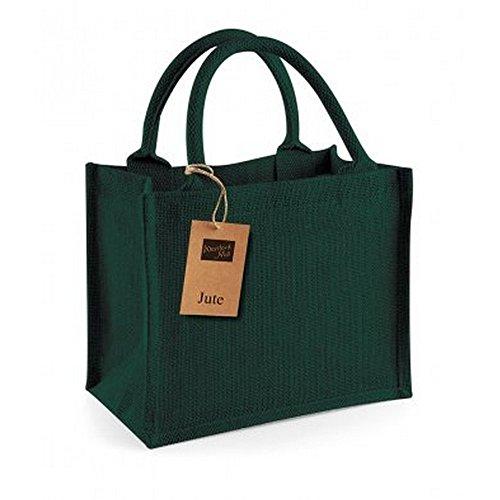 Westford Mill Jute-Tasche / Jute-Mini-Geschenktasche, 6 Liter (Einheitsgröße) (Wald Grün)