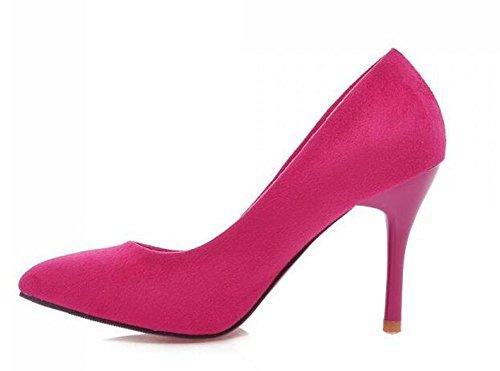 PBXP Pumps Wildleder Scarpin Stilett High Heel Spitz-Toe Frauen Arbeit Casual Schuhe Europa Größe Innerhalb Big Size 34-43 Red
