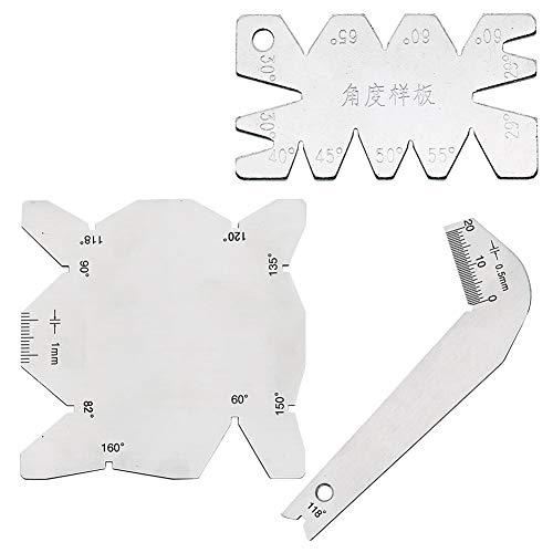 DarweirlueD Praktische Messdrehwerkzeuge, 3 Stück, S/S Edelstahl Winkelmesser Bohrer Schärfer Set