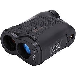 FOONEE Telémetro para Caza y Golf - Golf Range Finder Rangefinder 600 Metros con Bloqueo de Bandera, Niebla, Distancia, Medición de Velocidad, Negro