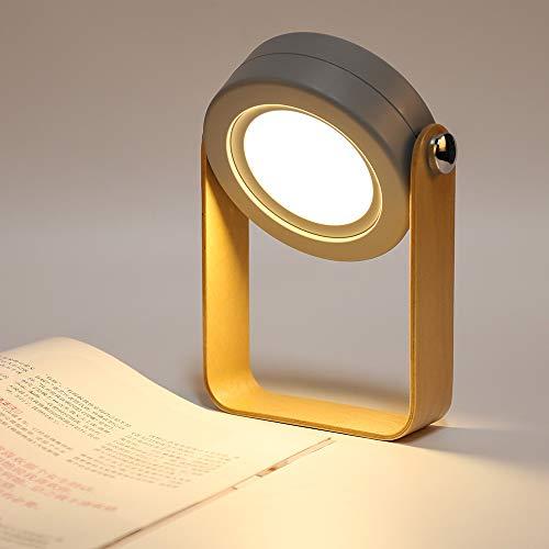 BLOOMWIN Nachttischlampe Dimmbar Nachlicht Touch LED Tischleuchte Tischlampe 3 Helligkeitsstufen klappbare Leseleuchte Nachtischlampe Kinder Grau