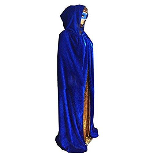 Machen Zu Mann Kostüm Iron - Outgoings Unisex Halloween Mantel SAMT Kapuzen Roben Capes Ganzkörperansicht Cosplay Bekleidung Hexe Kostüm
