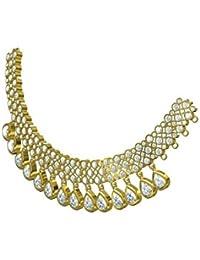 Kpax Fashions Golden Color Alloy Necklace Set For Women,KPX28
