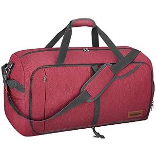 CANWAY 85L Große Reisetasche Sporttasche (Rot, 85L)