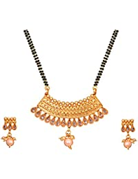 Sitashi 22K One Gram Gold Plated Imitation Jewellery Mangalsutra Set For Women With Long Chain