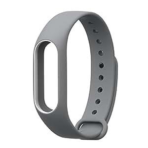 WOW Imagine Premium Dual Color Matte Silicon Wrist Band Strap For Xiaomi MI Band 2 & Mi Band HRX Edition - Grey