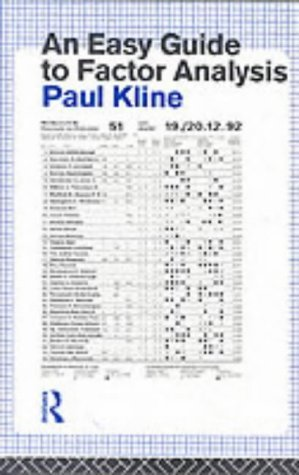 An Easy Guide to Factor Analysis by Paul Kline (1993-11-11)