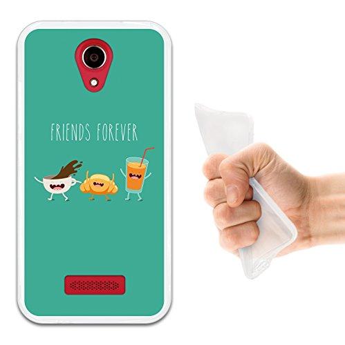 WoowCase Doogee X3 Hülle, Handyhülle Silikon für [ Doogee X3 ] Friends Forever Frühstück Handytasche Handy Cover Case Schutzhülle Flexible TPU - Transparent