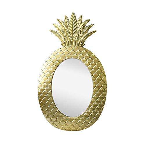 Mirror-DJJJZ Espejo de Pared, baño Hogar Dormitorio Colgante de Pared Tocador Espejo, Vintage piña...