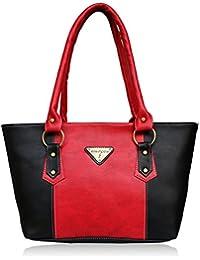 Fantosy Black And Red Women Handbag (FNB-694)