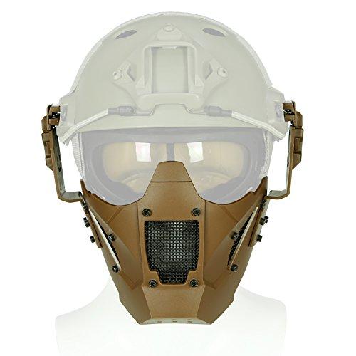 Taktische Helm Maske Einstellbare Halbe Gesicht Mesh Schutzmaske für Airsoft Paintball CS -