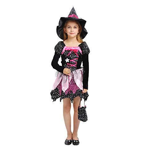 Memory meteor Schlimmste Hexe Kostüm, Kinder böse Hexe Halloween gruselige Kostüm Kostüm,L
