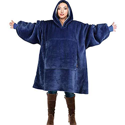 SunRlity Oversized Hoodie Sweatshirt Blanket,Super Soft Warm Comfortable Giant Hoody Large Front Pocket Adults Men Women Teens