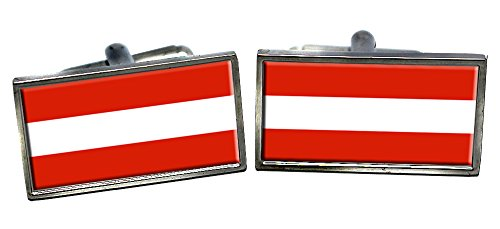 Austria Flag Cufflinks