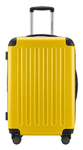 HAUPTSTADTKOFFER® Hartschalen Koffer SPREE 1203 · NEU 4 Doppel-Rollen · MATT · TSA Zahlenschloss · + KOFFERANHÄNGER (Gelb, Set) - 3