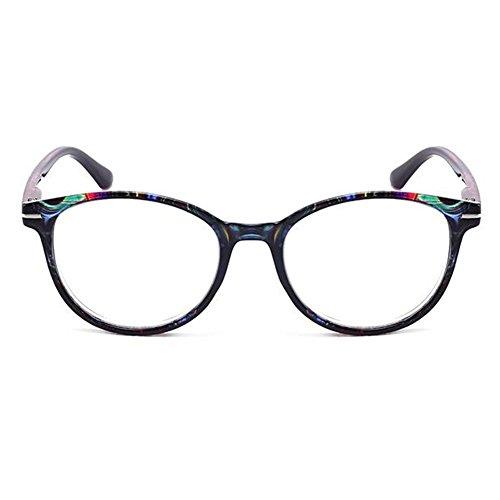 Haodasi Männer und Frauen Oval Frame Lesebrille mit Blumenmode Fashion Leser Brillen - wählen Sie Ihre Vergrößerung