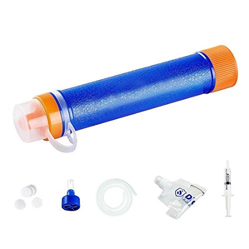 Wasser-filtration-fluorid (Joyeer Mini Wasser Filtration System Life Straw Portable Survival Gear Notfall Camping Ausrüstung Survival Kit Zubehör für Outdoor Sport Wandern Erkunden Outdoor Survival Relief)