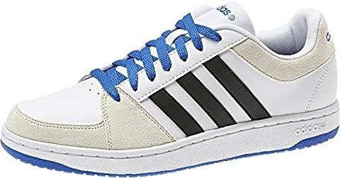 Adidas Vlneo Hoops Lo Ii Baskets Chaussures de sport Trainers Wei? Messieurs - Blanc - Blanc, 45 1/3 EU