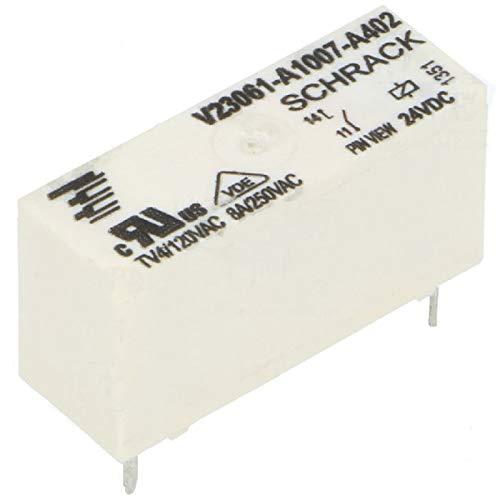 Schrack Relais MSR V23061-A1007-A402 24V DC max 250V/8A Miniatur Starkstrom U Spule
