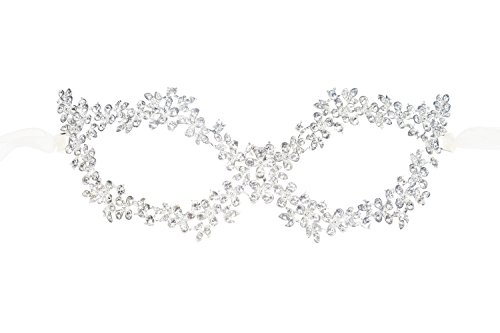 istall Blume Strass venezianische Augenmaske für Halloween Karneval M3 (901D) (Augenmaske Halloween)
