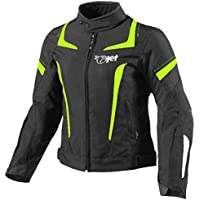 JET Chaqueta Moto Mujer Textil Impermeable con Armadura (M (ES 38-40)