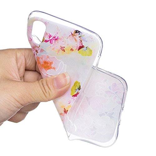 Cover iPhone X, Custodia iPhone 10, CaseLover Custodia per iPhone X / 10 Morbida Trasparente Silicone TPU Protezione Corpeture Ultra Sottile Flessibile Liscio Gomma Gel Antiurto Protettiva Caso Anti S Rosa Rosa