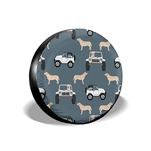 False warm warm Adventure Outdoors Dog Labrador Blue Grey Polyester Universal Spare Wheel Tire Cover Wheel Covers Jeep Trailer RV SUV Truck Camper Travel Trailer Accessories(14,15,16,17 Inch) 17inch -