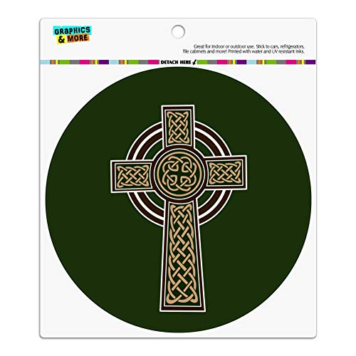 Keltisch Christian Kreuz Irish Irland Automotive Car Kühlschrank Locker Vinyl Kreis Magnet -