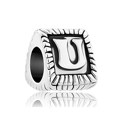 Uniqueen Fit Pandora Charms metal común cristal