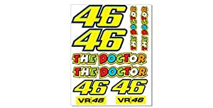 1 set 10 aufkleber 4 valentino rossi the doctor sticker. Black Bedroom Furniture Sets. Home Design Ideas