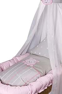 belily stubenwagenset stubenwagen set stubenwagen zubeh r bettw sche set mit himmel und. Black Bedroom Furniture Sets. Home Design Ideas