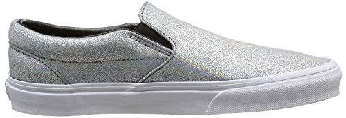 Vans U Classic Slip-On Matte Iridescent, Baskets Basses Mixte Adulte Argenté (Matte Iridescent/Silver)