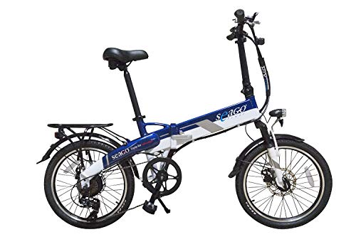 SEAGO Elektrofahrrad 20 Zoll 250 W 7-Gang Shimano Schaltung, Klapprad, Faltrad, E-Bike