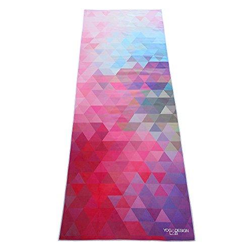 Il Telo Yoga Ecologico. Telo Yoga Antiscivolo Leggero Estremamente Assorbente in Microfibra che si Asciuga in Pochi Minuti. Lavabile in Lavatrice. (Tribeca Sand)