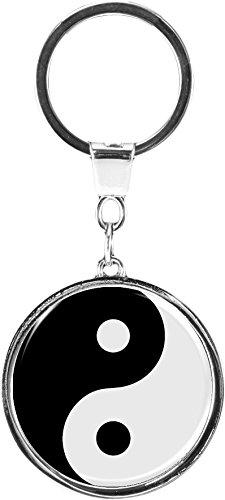 metALUm Schlüsselanhänger aus Metall/Buddhismus/Yin Yang / 6669001SJ